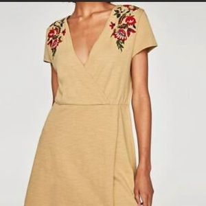 Zara Knit Dress with Embroidered flowers